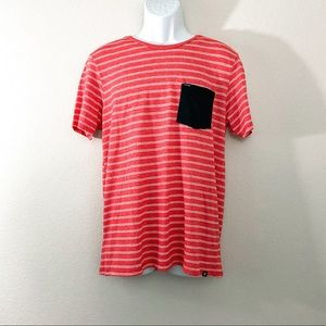 Hurley Red Pencil Strip Shirt Mens size M